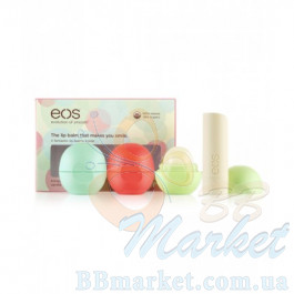 Набор бальзамов EOS Smooth Lip Balm 4-Pack: Sphere (mint, fruit, honeysuckle) + Stick (vanilla)