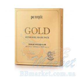 Гидрогелевая маска для лица с золотомым комплексом +5 PETITFEE Gold Hydrogel Mask Pack +5 golden complex - 5шт