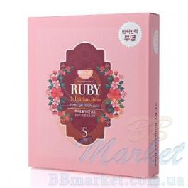 Гидрогелевая маска для лица с рубином  KOELF Ruby & Bulgarian Rose Hydro Gel Mask 30g x 5 шт