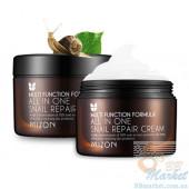 Крем с экстрактом улитки Mizon All in One Snail Repair Cream 92% - 120мл