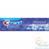Отбеливащая зубная паста Crest 3D White Foaming Clean Whitening Toothpaste 136g