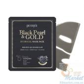 Гидрогелевая маска с золотом и черным жемчугом PETITFEE Black Pearl & Gold Hydrogel Mask Pack - 1шт
