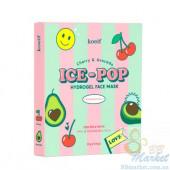 Гидрогелевая маска для лица с вишней и авокадо KOELF Cherry & Avocado Ice-Pop Hydrogel Face Mask - 5 шт