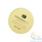 Уценка! (Помятая коробочка) Гидрогелевые патчи для глаз с золотом и улиткой Petitfee Gold & Snail Hydrogel Eye Patch 60шт